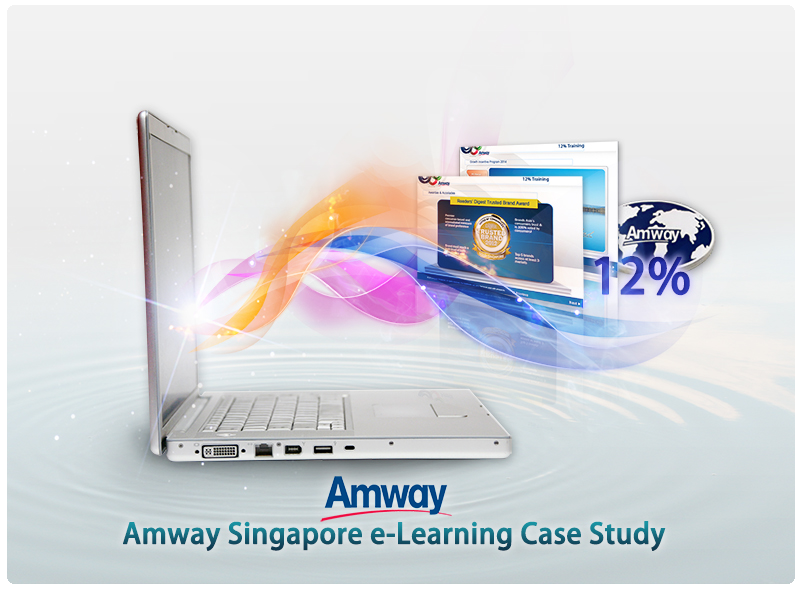 Amway, e-learning, elearning, case study, singapore, appstronic, HTML5, SCORM, Amway Singapore e-learning, online learning, mobile learning,offline learning,12%,12% training