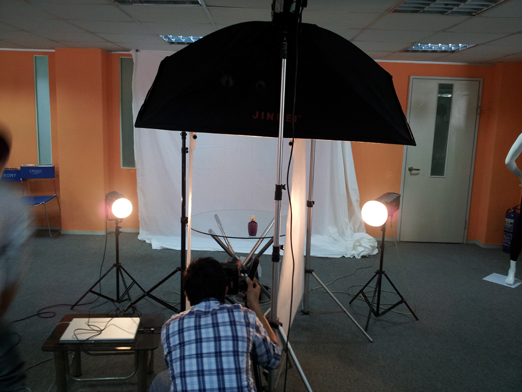 Studio setup at customer place, Professional phototaking by Appstronic